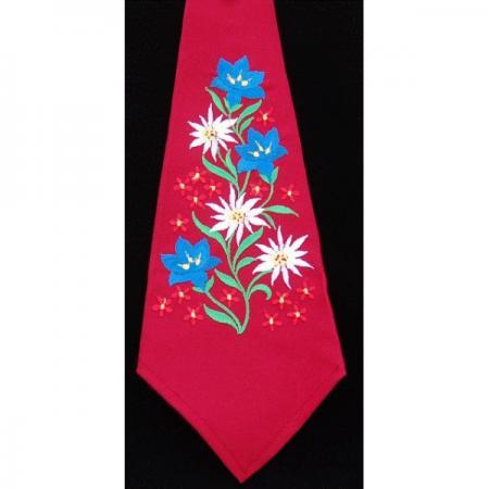 Embroidered alpine tie