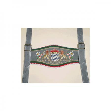 USA Made Gray Rautenwappen suspenders