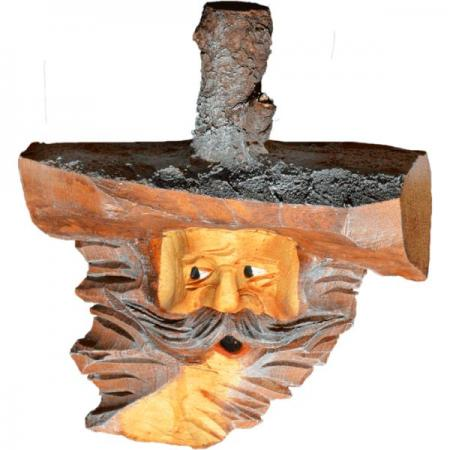 Large Decorative Wooden Face