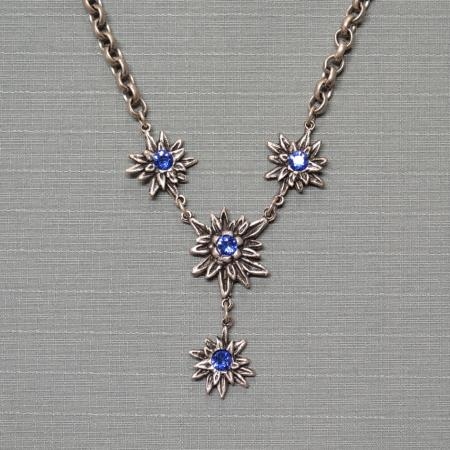Blue Edelweiss necklace