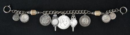 Coin and Stag Horn Chain