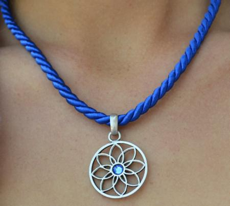 Colored Cord Crystal Necklace