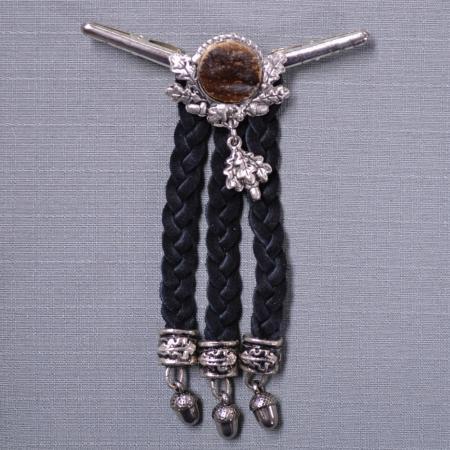 Acorn tie clasp